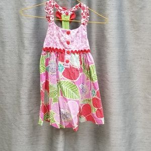 Like New Red Pink Sleeveless Sun Dress 4